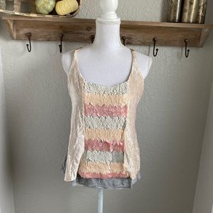 NWT Tiny by Anthropologie Sequin Tank Top